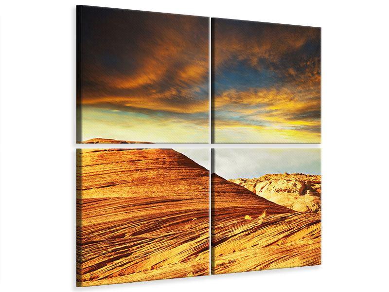 Leinwandbild 4-teilig Die Wüste