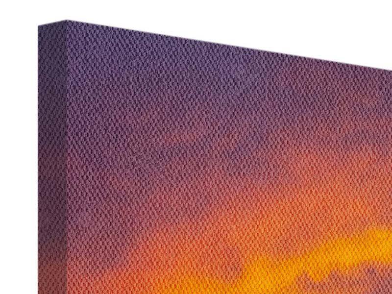 Leinwandbild 4-teilig Sonnenuntergang im Canon