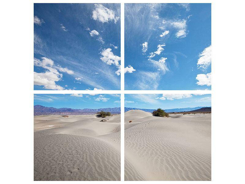 Leinwandbild 4-teilig Wüstenlandschaft