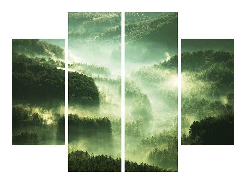 Leinwandbild 4-teilig Über den Wäldern