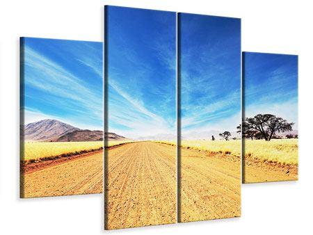 Leinwandbild 4-teilig Eine Landschaft in Afrika