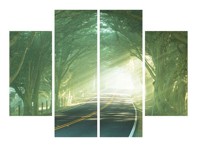 Leinwandbild 4-teilig Die Allee