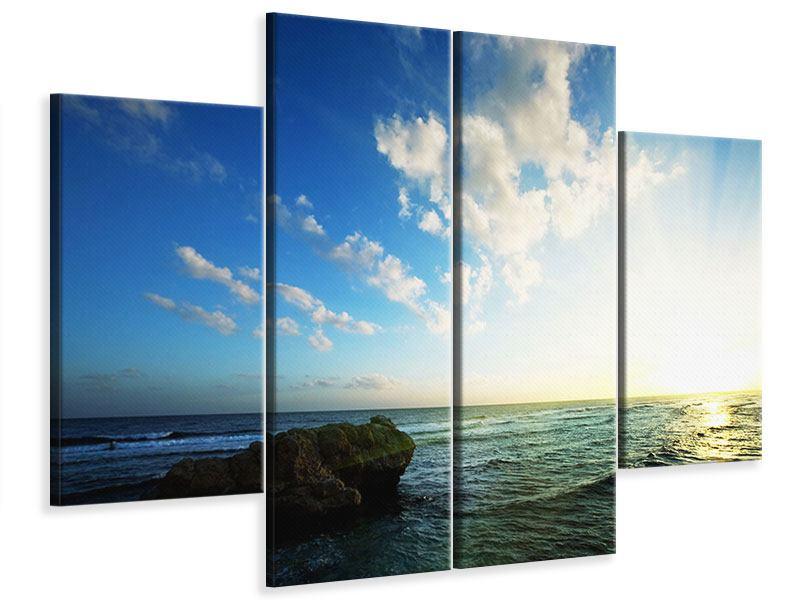 Leinwandbild 4-teilig Die See