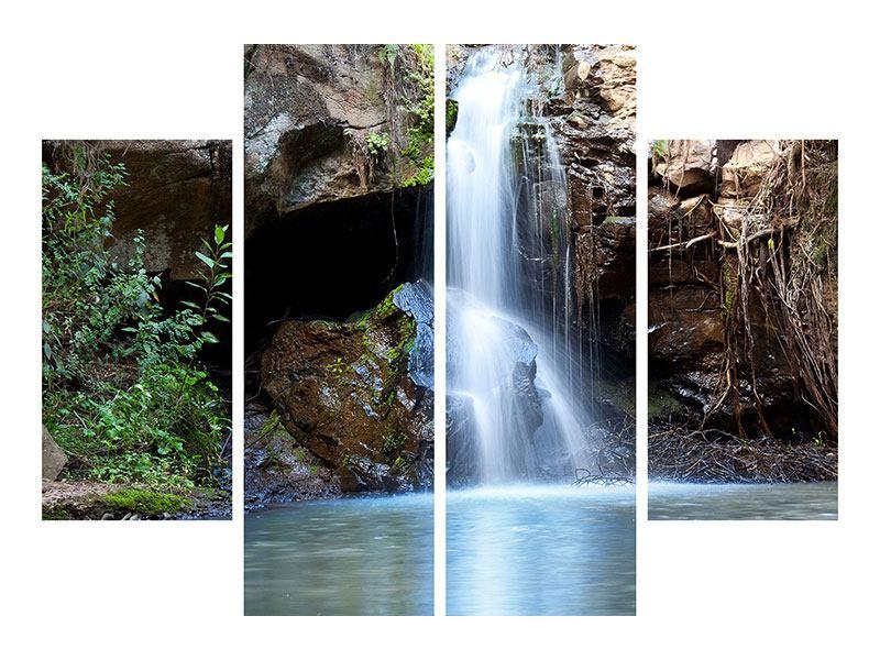 Leinwandbild 4-teilig Die blaue Lagune