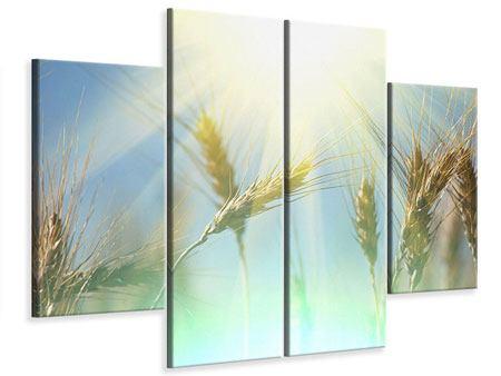 Leinwandbild 4-teilig König des Getreides