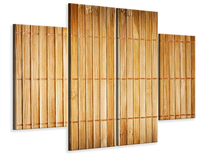 Leinwandbild 4-teilig Bambusrohre