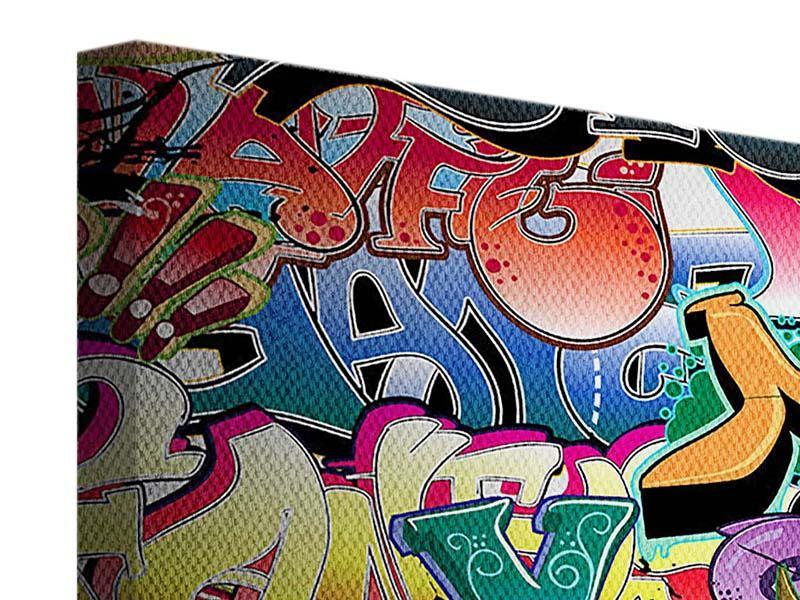 Leinwandbild 4-teilig Graffiti-Writing