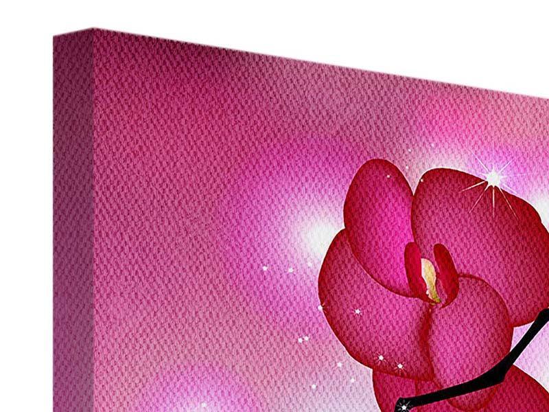 Leinwandbild 4-teilig Orchideenmärchen