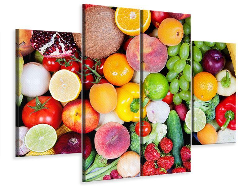 Leinwandbild 4-teilig Frisches Obst