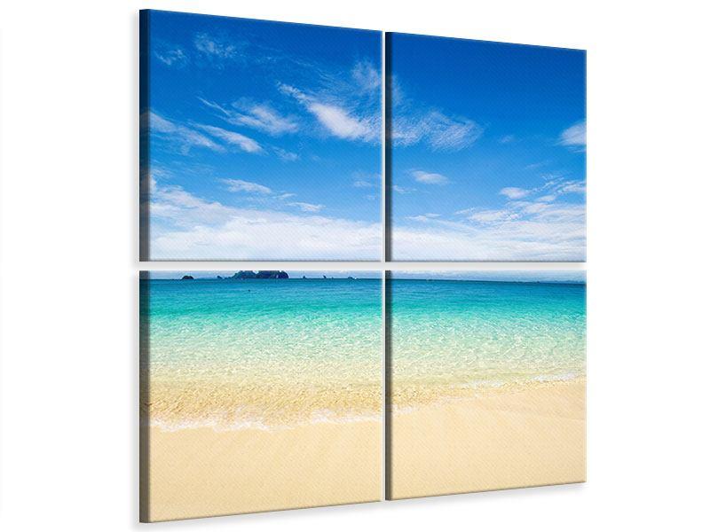 Leinwandbild 4-teilig Blaue Lagune