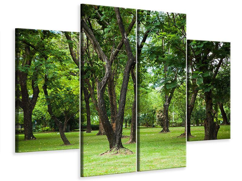 Leinwandbild 4-teilig Kirschbaum-Garten