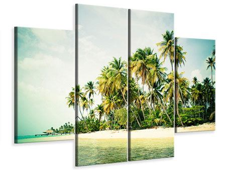 Leinwandbild 4-teilig Tobago Cays