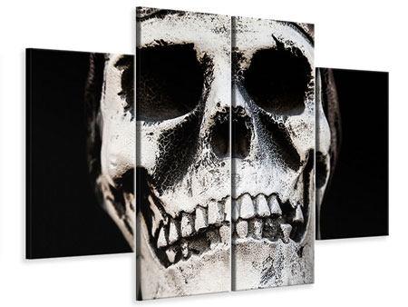 Leinwandbild 4-teilig Skull