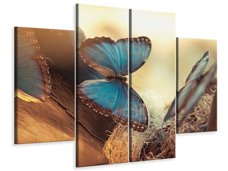 Leinwandbild 4-teilig Schmetterlinge