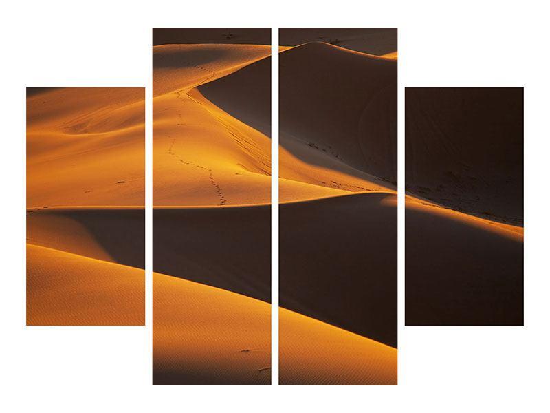 Leinwandbild 4-teilig Wüstensand