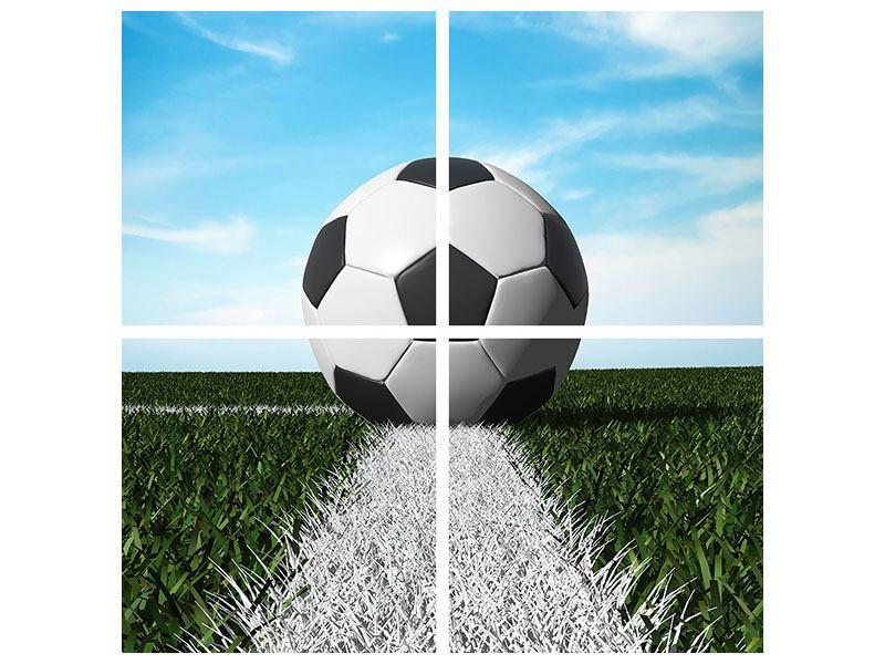 Leinwandbild 4-teilig Der Fussball