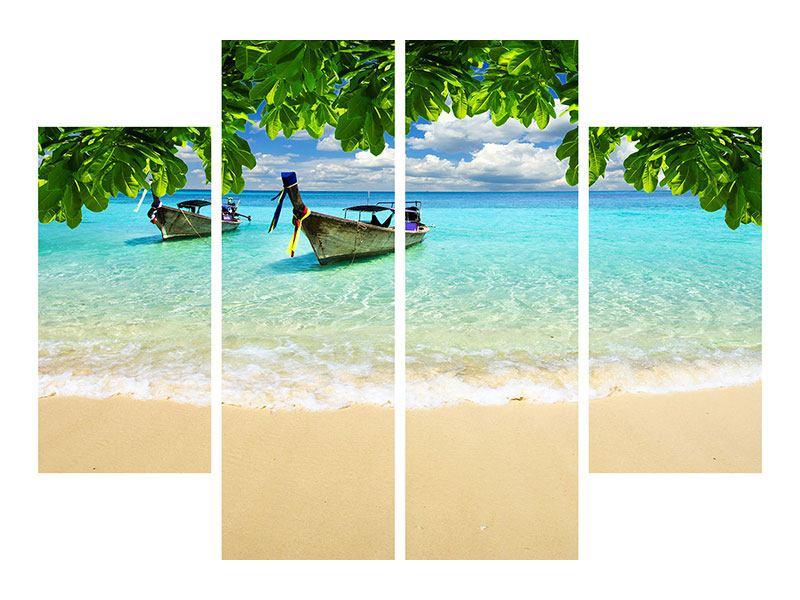 Leinwandbild 4-teilig Ein Blick auf das Meer