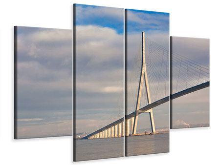 Leinwandbild 4-teilig Pont de Normandie