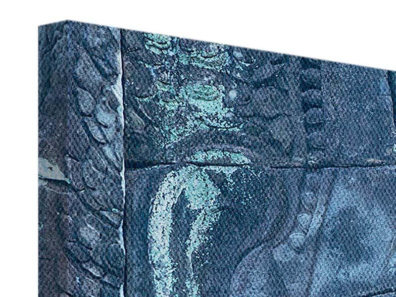 Leinwandbild 4-teilig Buddha Statur