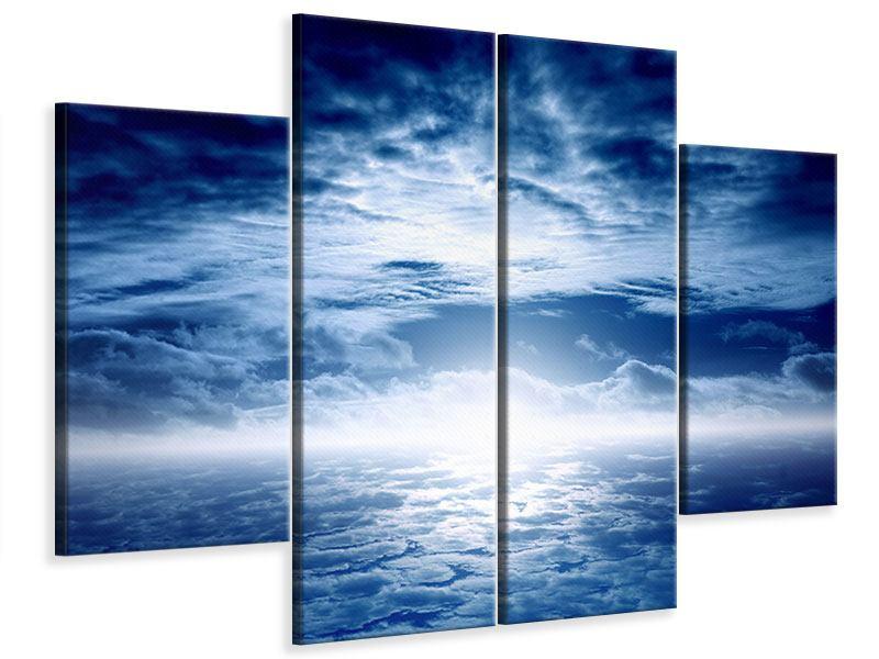 Leinwandbild 4-teilig Mystischer Himmel