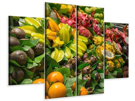 Leinwandbild 4-teilig Früchte