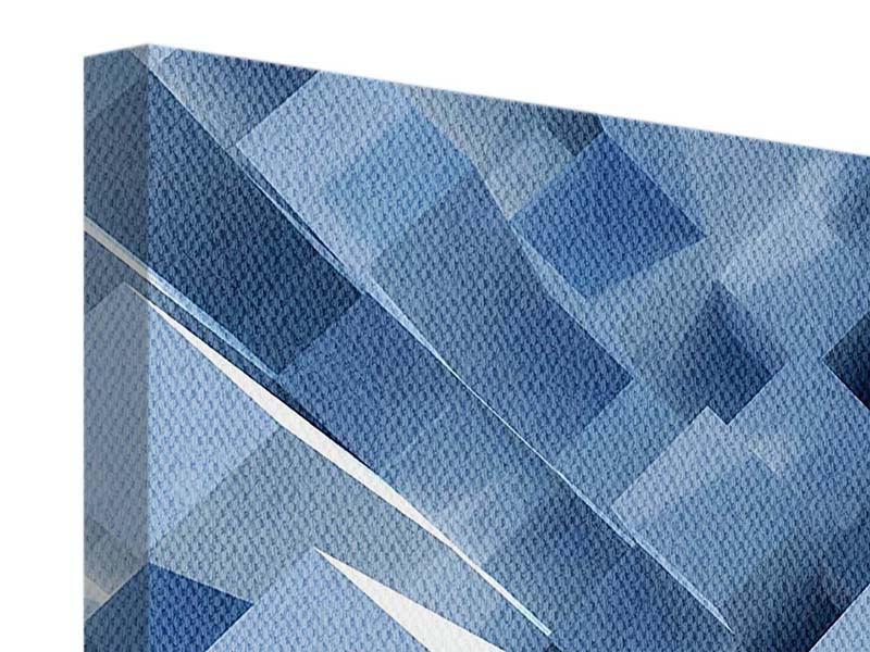 Leinwandbild 4-teilig 3D-Säulen
