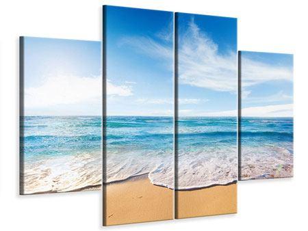 Leinwandbild 4-teilig Spuren im Sand