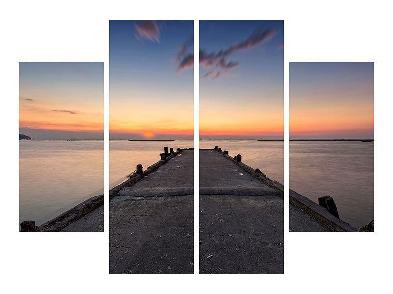 Leinwandbild 4-teilig Der Steg