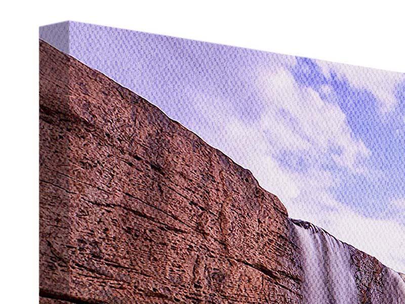 Leinwandbild 4-teilig Himmlischer Wasserfall