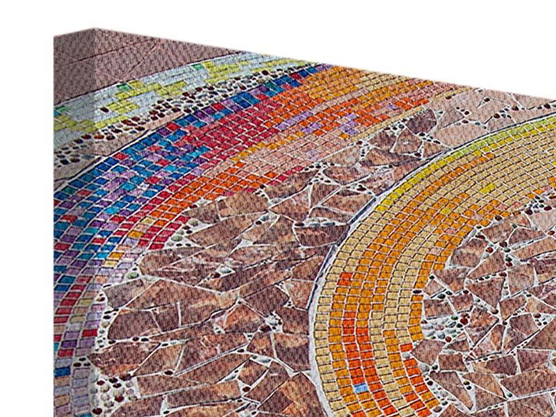Leinwandbild 4-teilig Mosaik