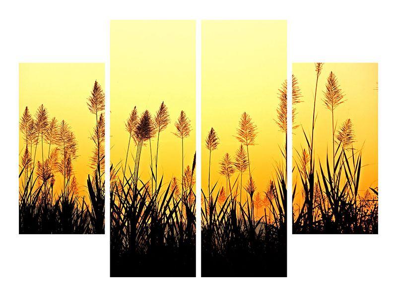 Leinwandbild 4-teilig Die Blumen des Feldes