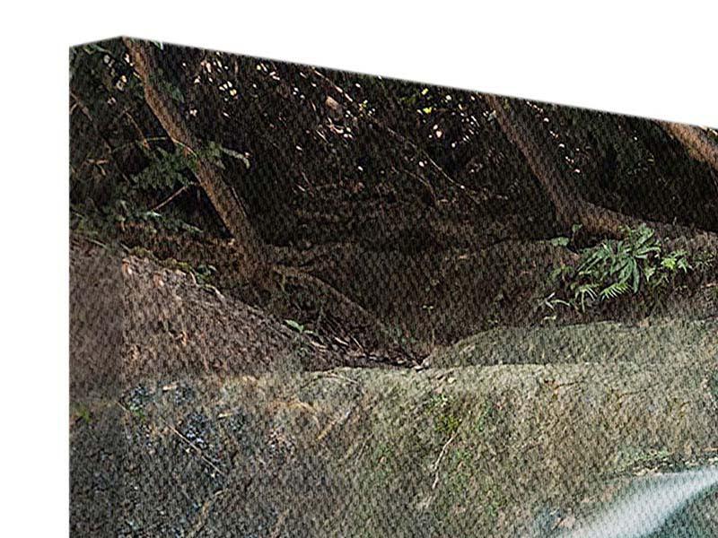 Leinwandbild 4-teilig Am Fluss des Lebens