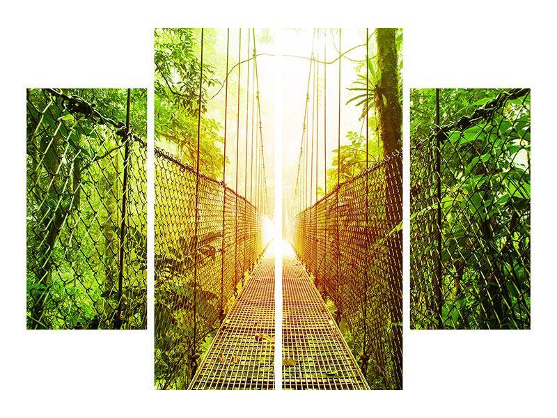 Leinwandbild 4-teilig Hängebrücke