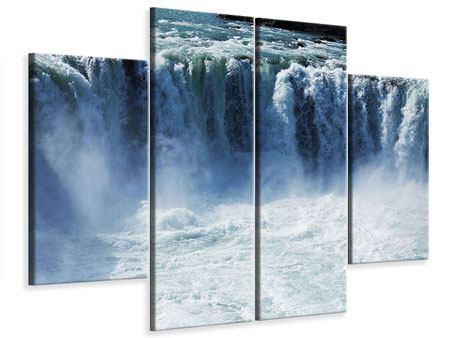 Leinwandbild 4-teilig Mächtiger Wasserfall