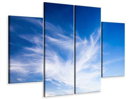 Leinwandbild 4-teilig Schleierwolken
