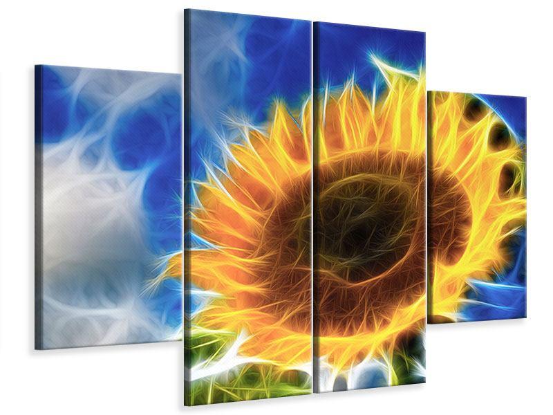 Leinwandbild 4-teilig Der Sonne entgegen
