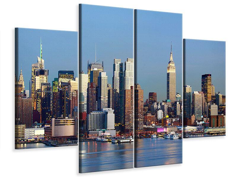 Leinwandbild 4-teilig Skyline Midtown Manhattan
