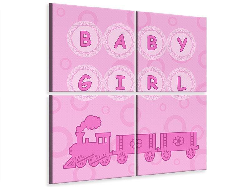 Leinwandbild 4-teilig Baby-Girl