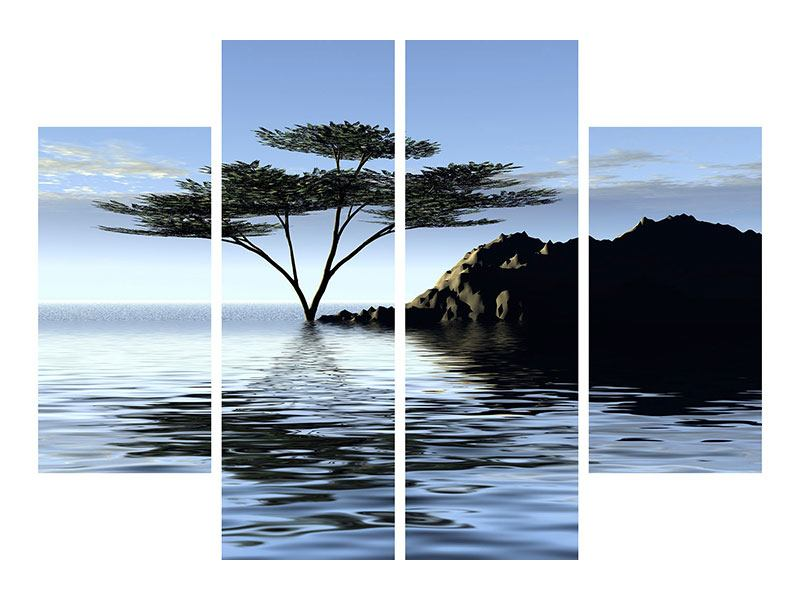 Leinwandbild 4-teilig Naturfaszination