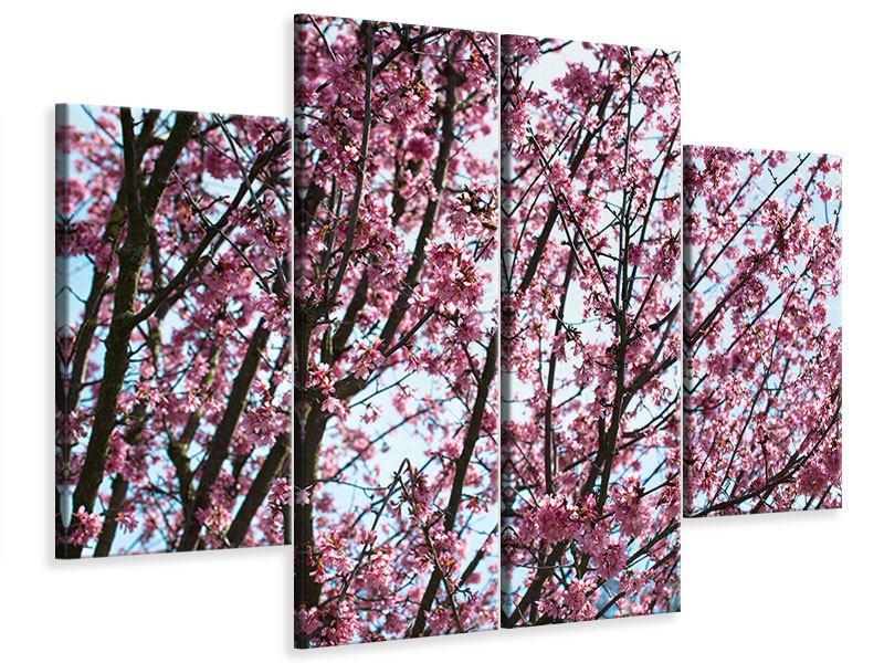 Leinwandbild 4-teilig Japanische Blütenkirsche
