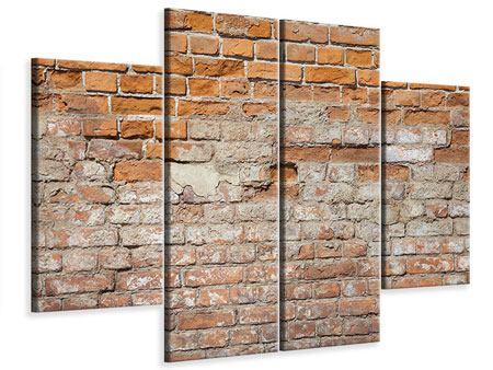 Leinwandbild 4-teilig Alte Klagemauer
