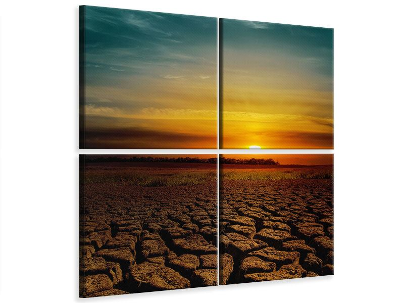 4 Piece Canvas Print Africa Drought