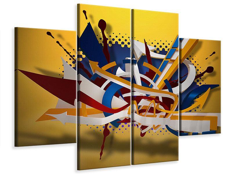 Leinwandbild 4-teilig Graffiti Art
