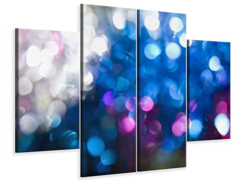 Leinwandbild 4-teilig Abstraktes Licht