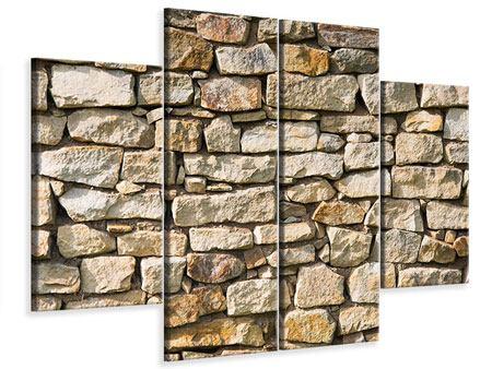 Leinwandbild 4-teilig Natursteine