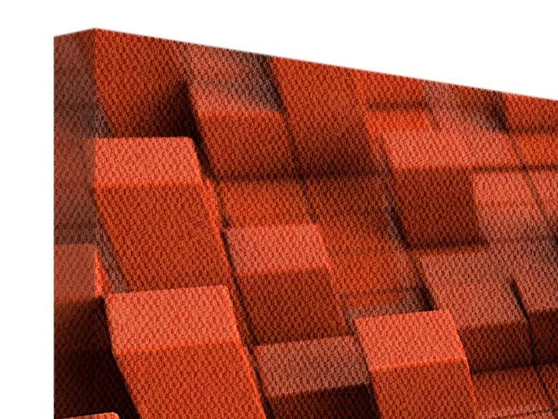 Leinwandbild 4-teilig 3D-Rechtkant