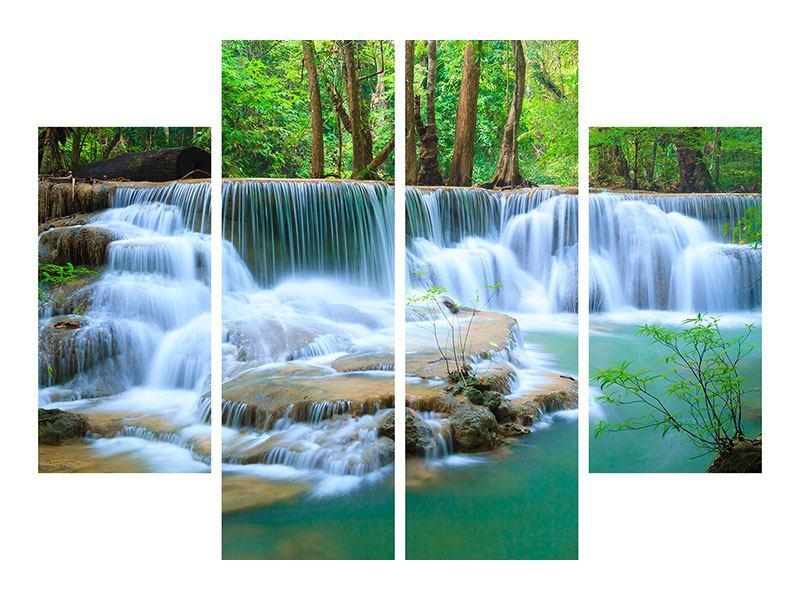 Leinwandbild 4-teilig Kaskaden Huay Mae Khamin
