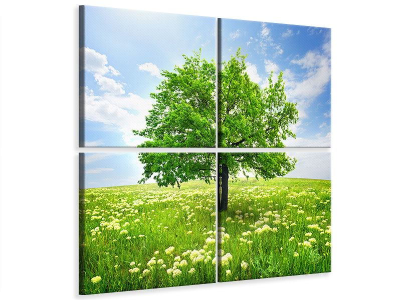 Leinwandbild 4-teilig Der Baum