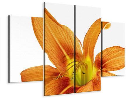 Leinwandbild 4-teilig Die Tiger-Lilie