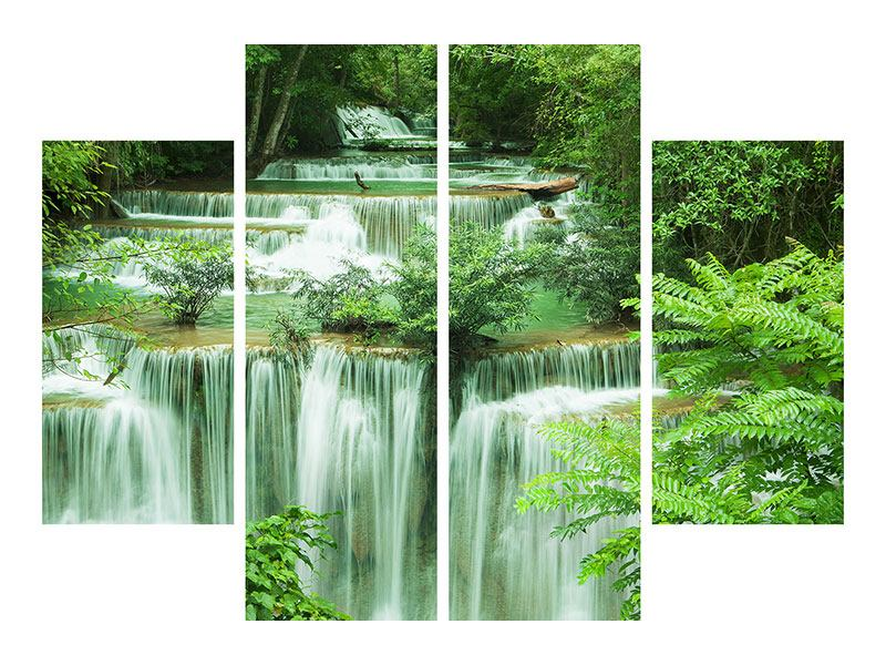 Leinwandbild 4-teilig 7 Stufen in Thailand